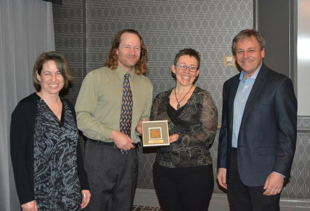 Presentation of Gold Leaf Award to Sabine Dietz and Roland Chiasson.