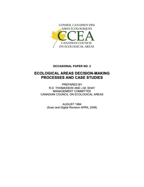 Ecological areas decision-making processes and case studies