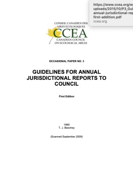 Guidelines for annual jurisdictional reports to council