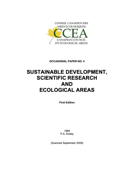 Sustainable development, scientific researched ecological areas