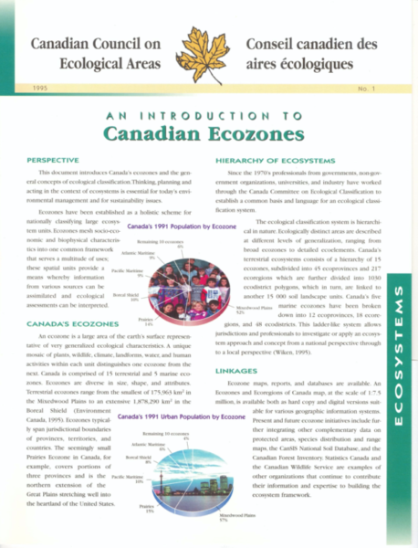 An introduction to Canadian ecozones