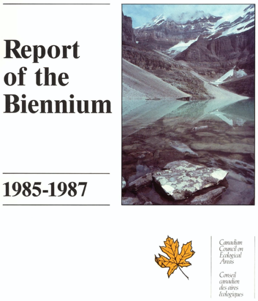 Report of the biennium 1985-1987