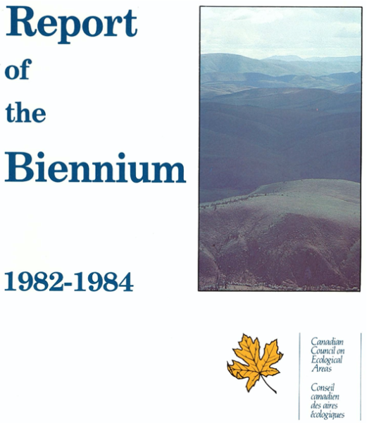 Report of the biennium 1982-1984