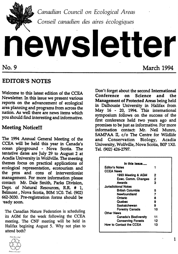 Eco March 1994