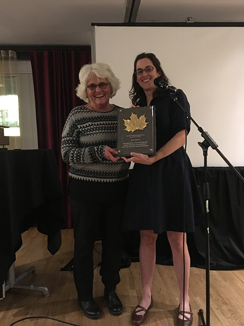 Louise Gratton CCEA 2019 Gold Leaf Award